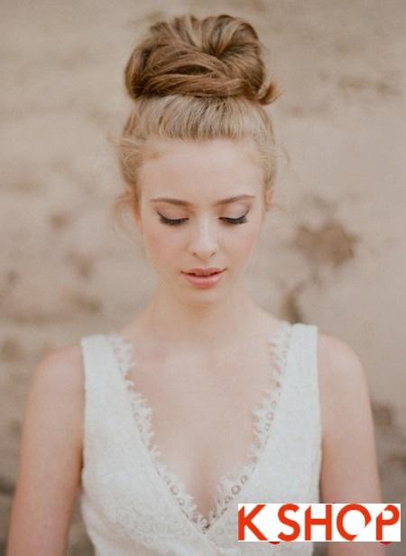 Búi tóc đẹp 2017 cho cô dâu lãng mạn quyến rũ cuốn hút ngày cưới phần 10