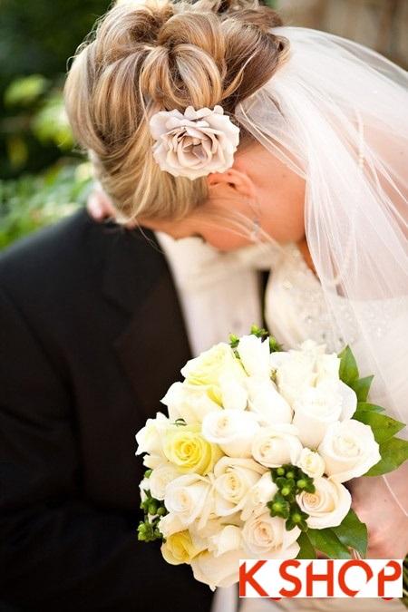 Búi tóc đẹp 2017 cho cô dâu lãng mạn quyến rũ cuốn hút ngày cưới phần 18