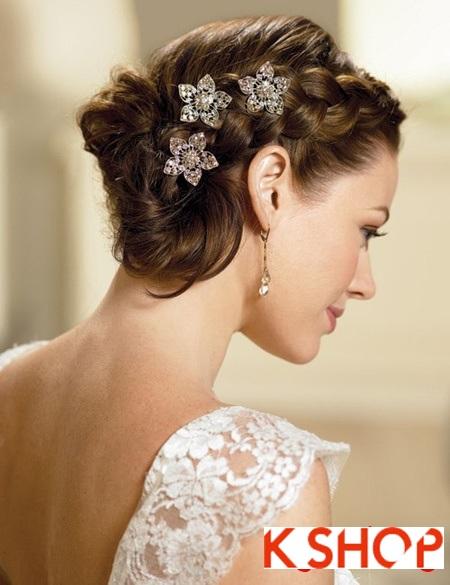 Búi tóc đẹp 2017 cho cô dâu lãng mạn quyến rũ cuốn hút ngày cưới phần 4