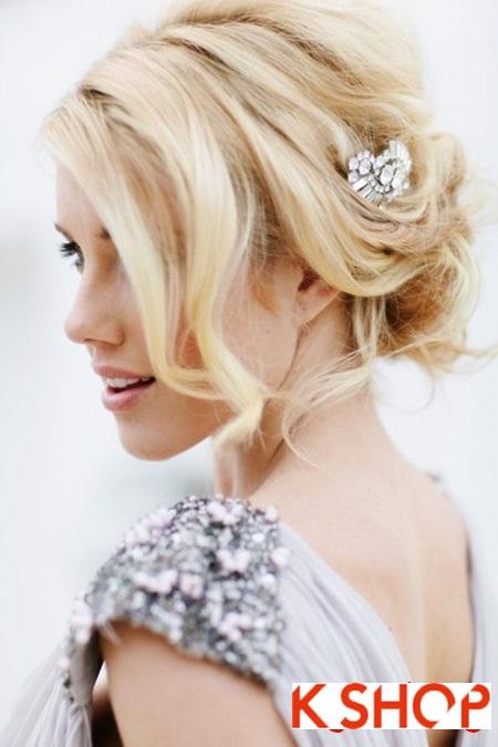 Búi tóc đẹp 2017 cho cô dâu lãng mạn quyến rũ cuốn hút ngày cưới phần 7