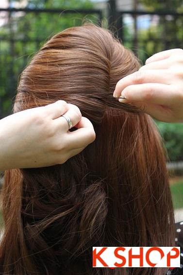Cách búi tóc xoăn đẹp 2017 đơn giản tại nhà cho bạn gái duyên dáng phần 2