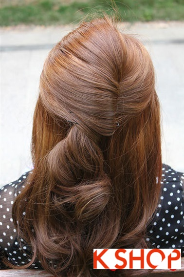 Cách búi tóc xoăn đẹp 2017 đơn giản tại nhà cho bạn gái duyên dáng phần 3