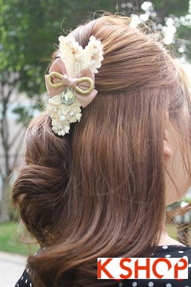 Cách búi tóc xoăn đẹp 2017 đơn giản tại nhà cho bạn gái duyên dáng phần 5