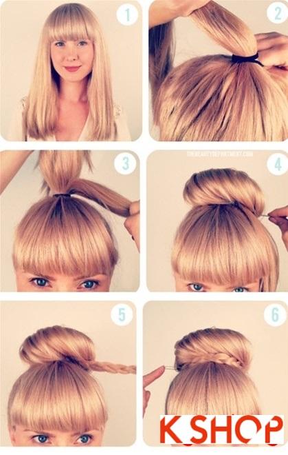 Cách làm 3 kiểu tóc búi đẹp đơn giản dễ làm tại nhà cho bạn gái 2016 phần 2