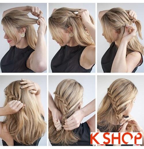 Cách làm 3 kiểu tóc búi đẹp đơn giản dễ làm tại nhà cho bạn gái 2016 phần 4