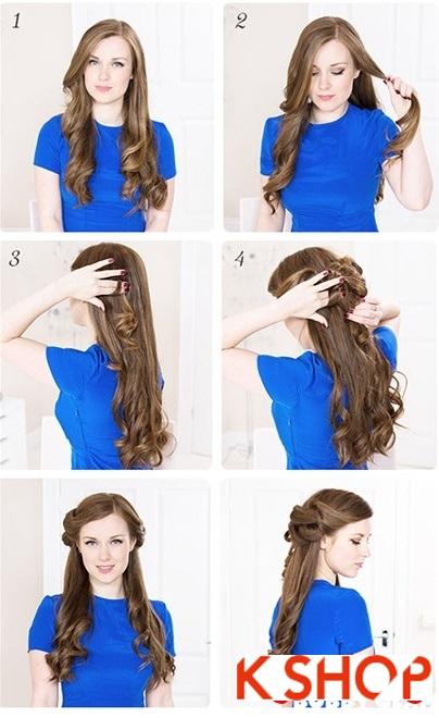 Cách làm 3 kiểu tóc búi đẹp đơn giản dễ làm tại nhà cho bạn gái 2016 phần 7