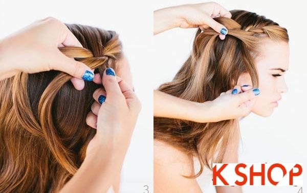 Cách tết tóc thác nước cực đẹp cho bạn gái mái tóc dài trong vòng 1 nốt nhạc phần 2