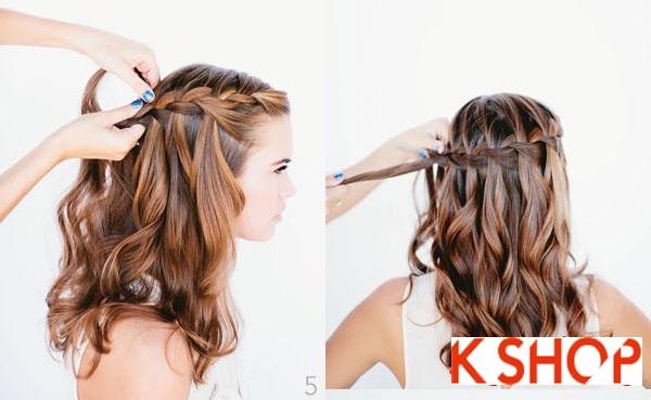 Cách tết tóc thác nước cực đẹp cho bạn gái mái tóc dài trong vòng 1 nốt nhạc phần 3