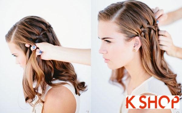 Cách tết tóc thác nước cực đẹp cho bạn gái mái tóc dài trong vòng 1 nốt nhạc phần 4