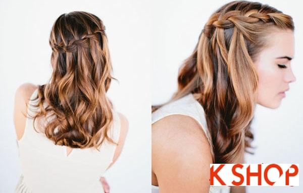 Cách tết tóc thác nước cực đẹp cho bạn gái mái tóc dài trong vòng 1 nốt nhạc phần 5