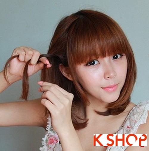 Cách tạo 2 kiểu tóc cực đẹp đơn giản cho bạn gái xinh xắn dạo phố phần 1