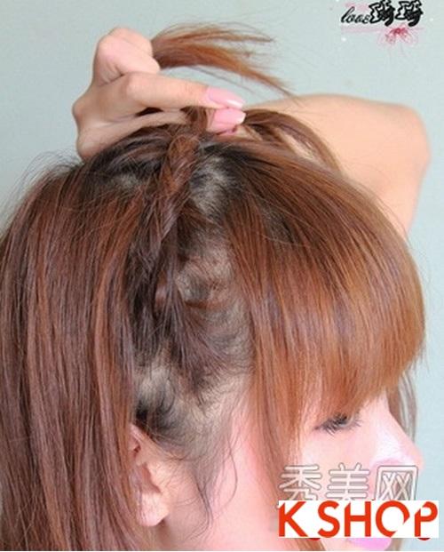 Cách tạo 2 kiểu tóc cực đẹp đơn giản cho bạn gái xinh xắn dạo phố phần 2