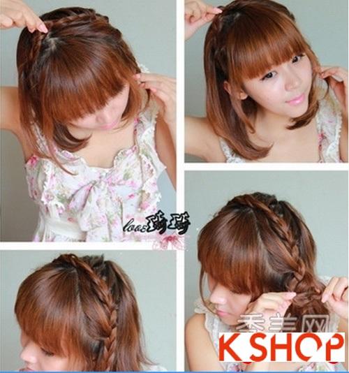 Cách tạo 2 kiểu tóc cực đẹp đơn giản cho bạn gái xinh xắn dạo phố phần 4