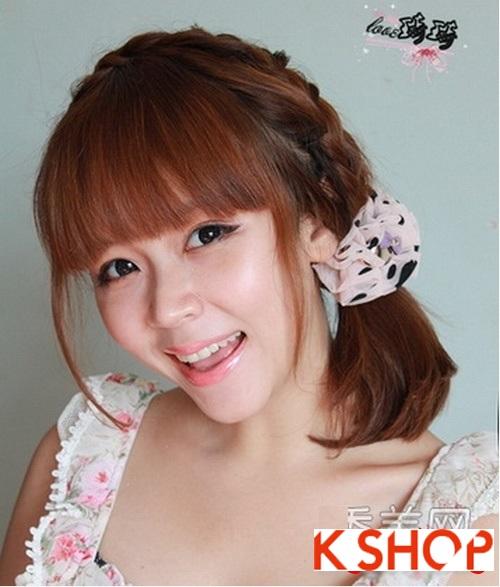 Cách tạo 2 kiểu tóc cực đẹp đơn giản cho bạn gái xinh xắn dạo phố phần 6