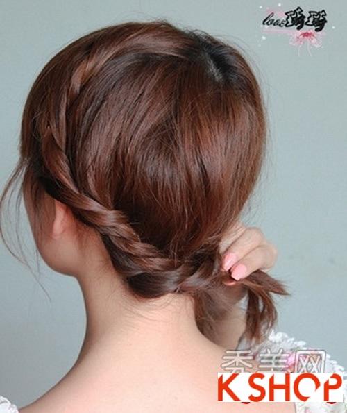 Cách tạo 2 kiểu tóc cực đẹp đơn giản cho bạn gái xinh xắn dạo phố phần 8