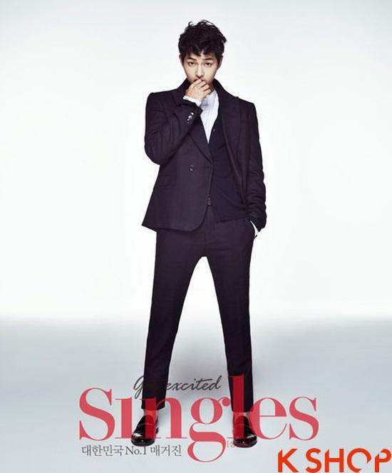Những kiểu tóc nam đẹp 2016 nổi bật trên tạp chí của sao kpop Hàn Quốc phần 12