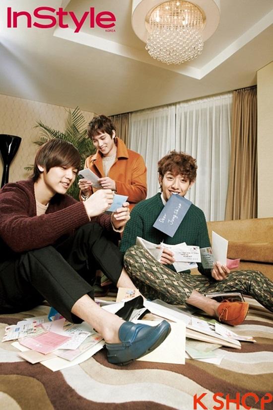 Những kiểu tóc nam đẹp 2016 nổi bật trên tạp chí của sao kpop Hàn Quốc phần 4