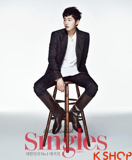 Những kiểu tóc nam đẹp 2016 nổi bật trên tạp chí của sao kpop Hàn Quốc phần 9