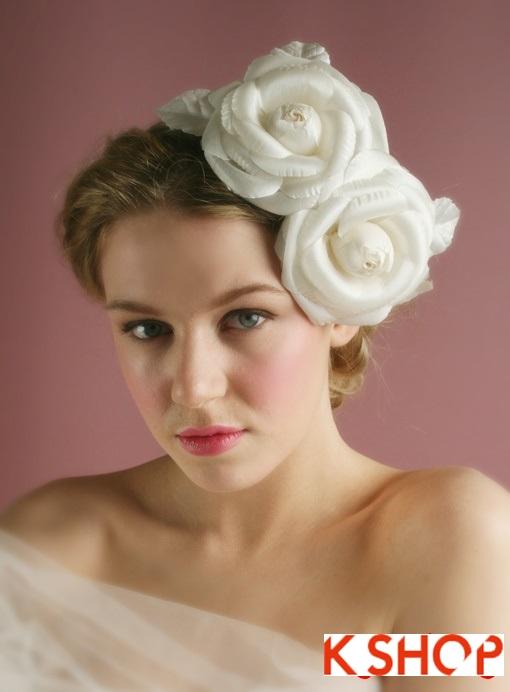 Những kiểu tóc cô dâu Hàn Quốc đẹp cho bạn gái dễ thương quyến rũ phần 2