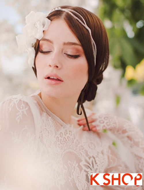 Bật mí kiểu tóc đẹp cho cô dâu đầy quyến rũ lãng mạn trong ngày cưới phần 4