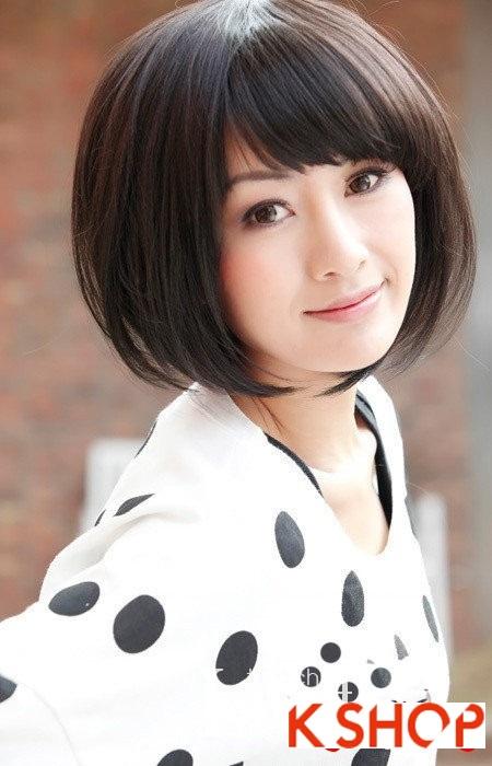 Gợi ý kiểu tóc Hàn Quốc đẹp 2017 cho bạn gái có khuôn mặt tròn phần 1