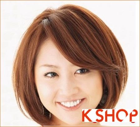 Gợi ý kiểu tóc Hàn Quốc đẹp 2017 cho bạn gái có khuôn mặt tròn phần 6
