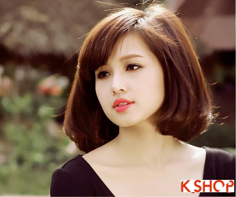 Gợi ý kiểu tóc Hàn Quốc đẹp 2017 cho bạn gái có khuôn mặt tròn phần 7