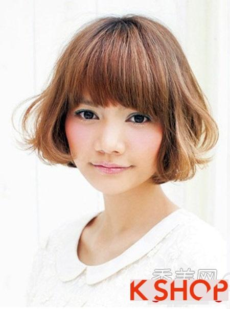 Những kiểu tóc ngắn đẹp 2017 phù hợp cho bạn gái có khuôn mặt tròn phần 8