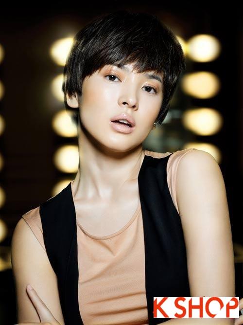 Những kiểu tóc ngắn Hàn Quốc 2016 đẹp cho bạn gái đầy cá tính năng động phần 4