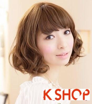 Kiểu tóc ngắn ngang vai uốn xoăn đẹp hot được bạn gái ưa chuộng nhất hè 2017 phần 3