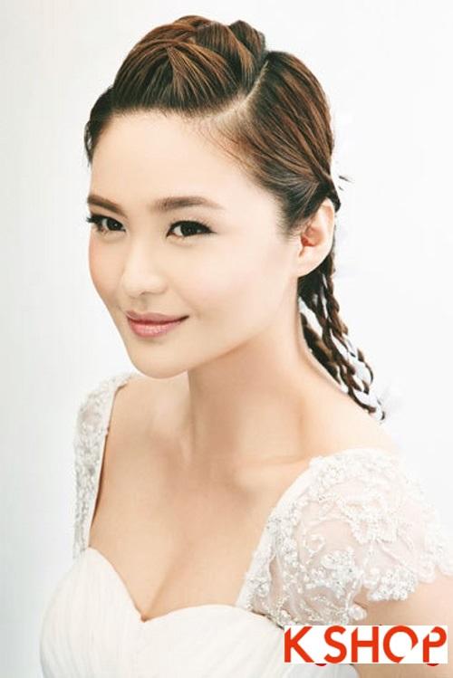 Những kiểu tóc tết tuyệt đẹp 2015 đơn giản cho cô dâu lãng mạn trong ngày cưới mùa thời trang tóc năm nay phần 5