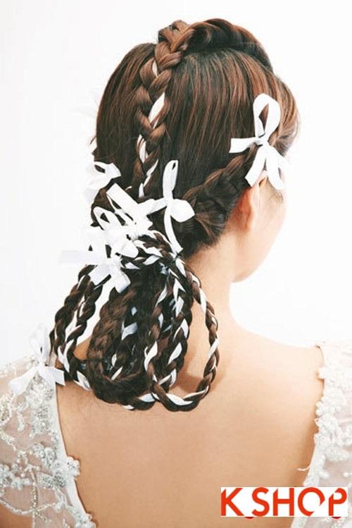 Những kiểu tóc tết tuyệt đẹp 2015 đơn giản cho cô dâu lãng mạn trong ngày cưới mùa thời trang tóc năm nay phần 6