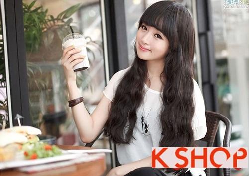 Kiểu tóc dài uốn xoăn sóng nhỏ Hàn Quốc đẹp 2017 cực đáng yêu duyên dáng mọi cô nàng phần 3