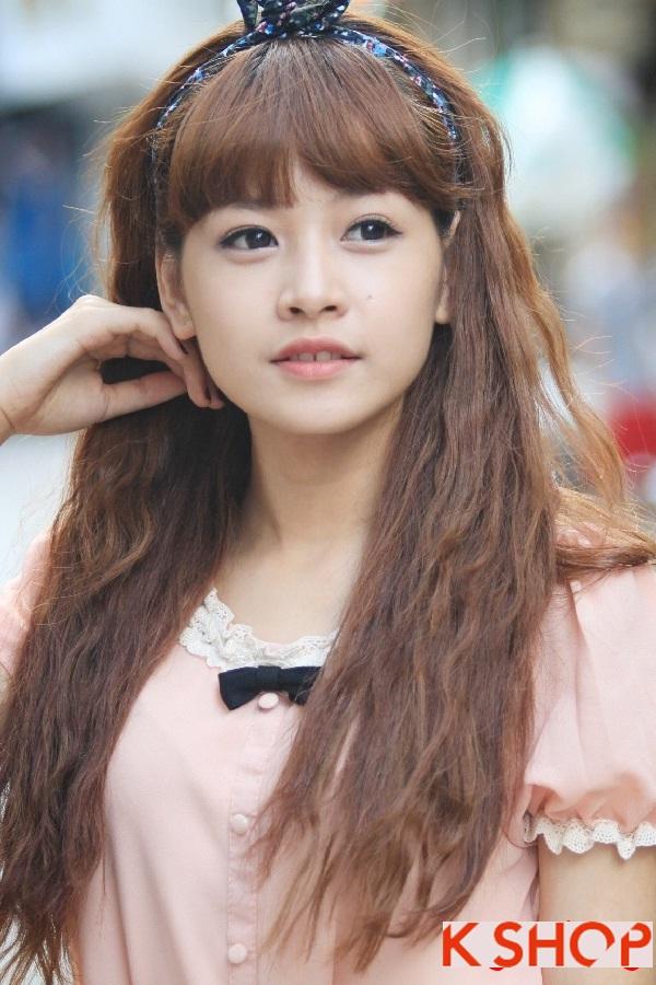 Kiểu tóc dài uốn xoăn sóng nhỏ Hàn Quốc đẹp 2017 cực đáng yêu duyên dáng mọi cô nàng phần 6