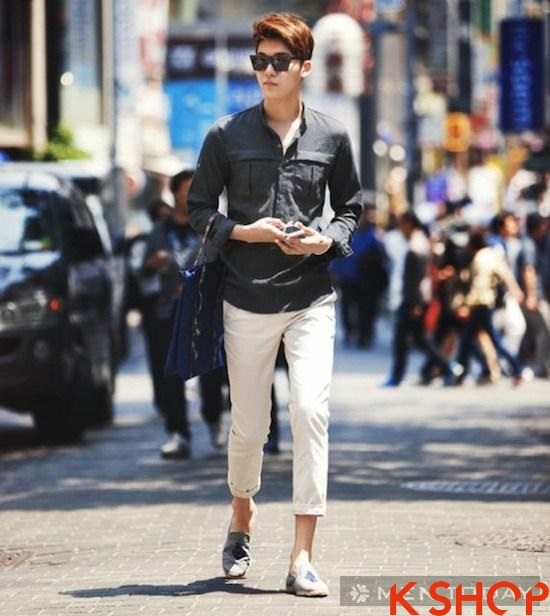 Áo phông nam công sở đẹp hè 2017 cho bạn trai thời trang thoải mái phần 7