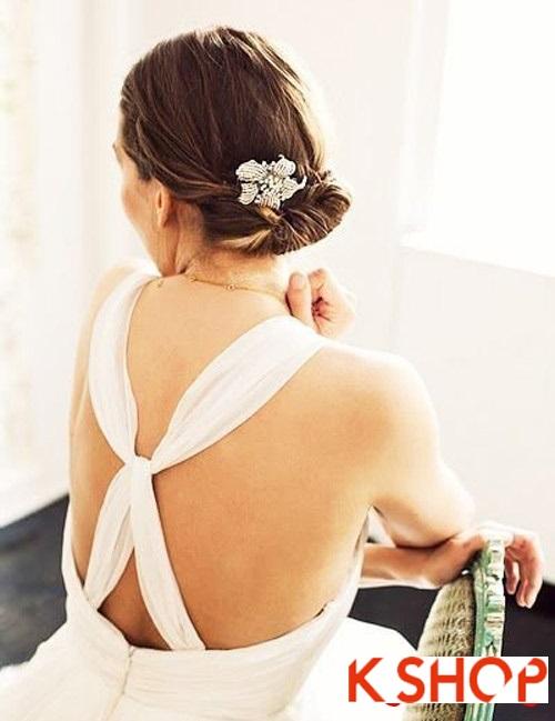Tóc búi đẹp nhất cho cô dâu sang trọng cuốn hút trong ngày cưới phần 13