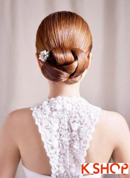 Tóc búi đẹp nhất cho cô dâu sang trọng cuốn hút trong ngày cưới phần 15