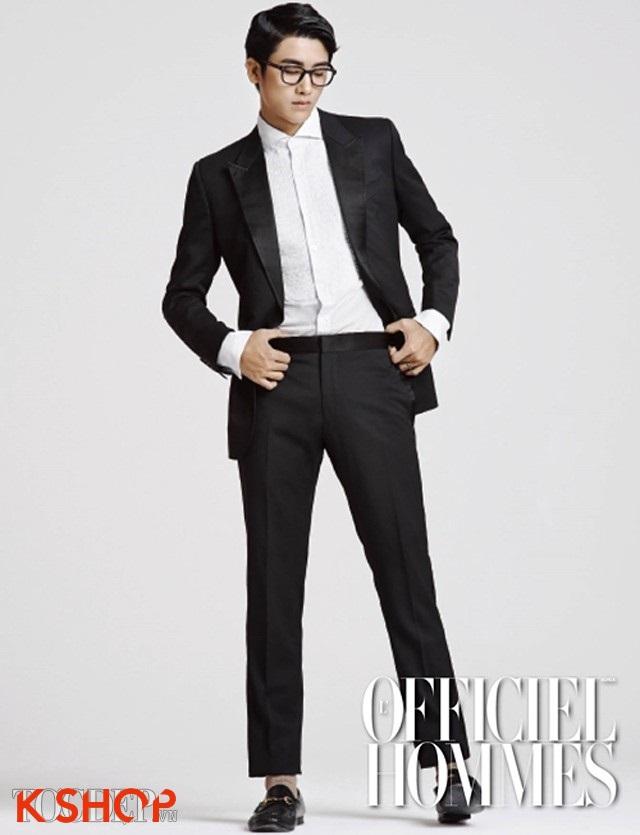 Tóc nam ngôi lệch đẹp 2017 như diễn viên Hàn Quốc Park Hyung Sik phần 6
