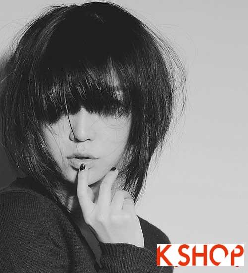 Mẫu Tóc ngắn Hàn Quốc đẹp cho bạn gái khuôn mặt tròn dễ thương cực đáng yêu 2017 phần 1