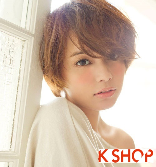 Mẫu Tóc ngắn Hàn Quốc đẹp cho bạn gái khuôn mặt tròn dễ thương cực đáng yêu 2017 phần 10