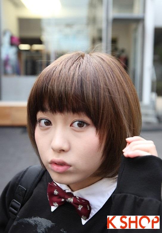 Mẫu Tóc ngắn Hàn Quốc đẹp cho bạn gái khuôn mặt tròn dễ thương cực đáng yêu 2017 phần 2
