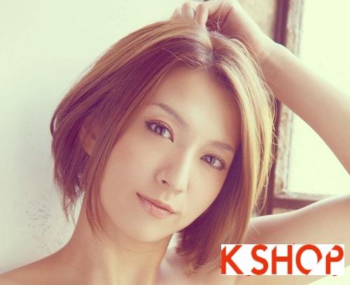 Mẫu Tóc ngắn Hàn Quốc đẹp cho bạn gái khuôn mặt tròn dễ thương cực đáng yêu 2017 phần 6