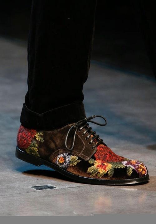 Giày nam họa tiết hoa lá đẹp hè 2016 xu hướng thời trang năm nay phần 2