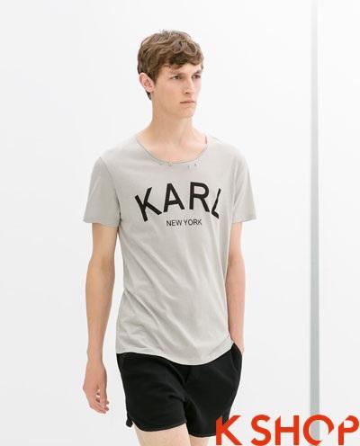 Những kiểu áo thun trơn nam Zara đẹp hè 2017 đơn giản thời trang phần 11