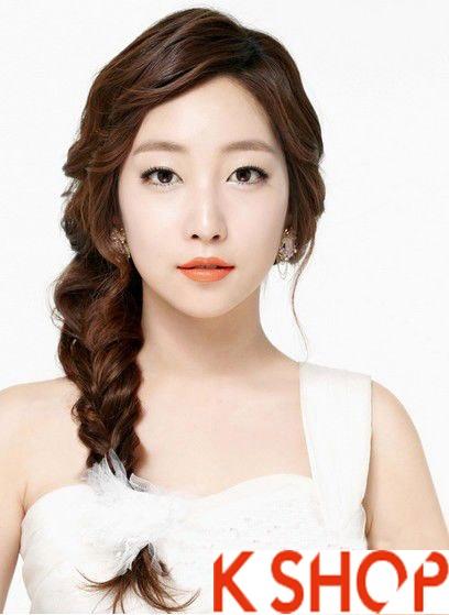 Những kiểu tóc tết cô dâu đẹp các sao Hàn Quốc thu đông 2015 - 2016 phần 1