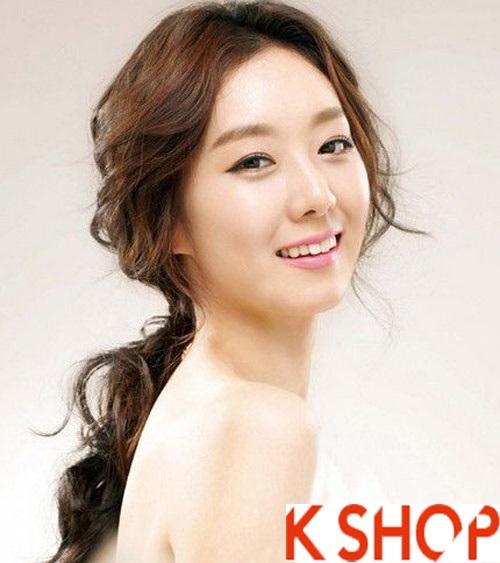 Những kiểu tóc tết cô dâu đẹp các sao Hàn Quốc thu đông 2015 - 2016 phần 11
