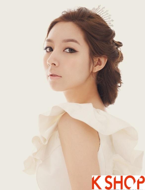 Những kiểu tóc tết cô dâu đẹp các sao Hàn Quốc thu đông 2015 - 2016 phần 12