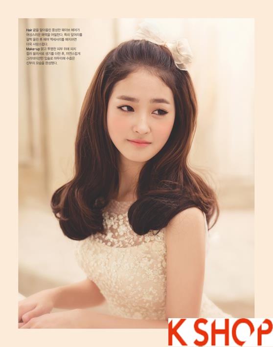 Những kiểu tóc tết cô dâu đẹp các sao Hàn Quốc thu đông 2015 - 2016 phần 17