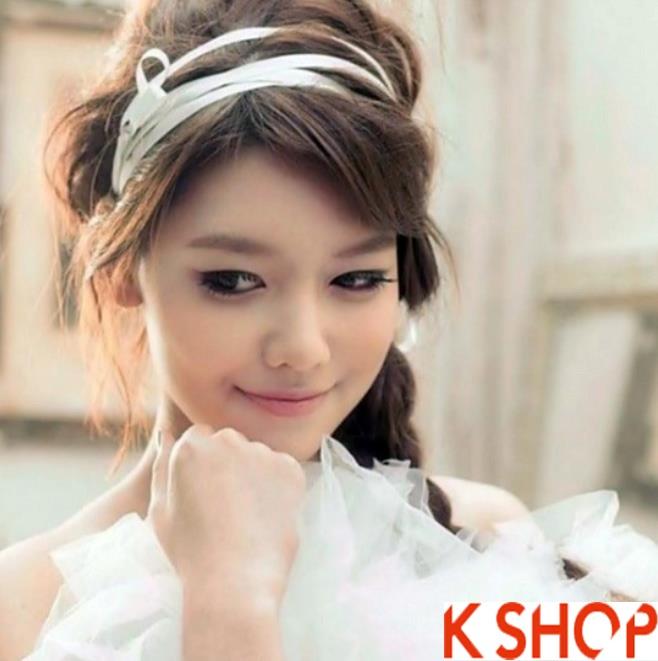 Những kiểu tóc tết cô dâu đẹp các sao Hàn Quốc thu đông 2015 - 2016 phần 19