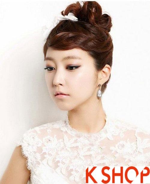 Những kiểu tóc tết cô dâu đẹp các sao Hàn Quốc thu đông 2015 - 2016 phần 2